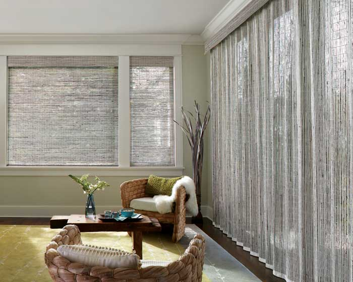 Roman and Woven Wood shades  Window Treatments  A Fine