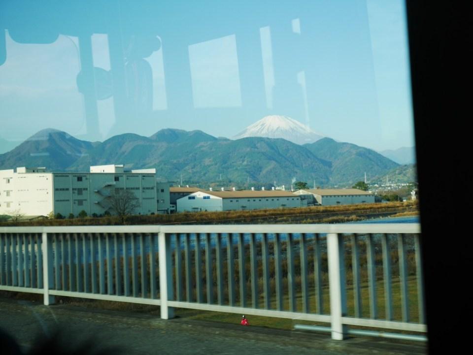 Ma première vision du Mont Fuji !