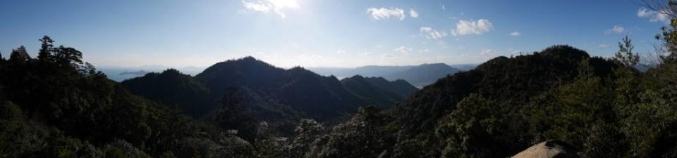 La vue au sommet du Mont Misen