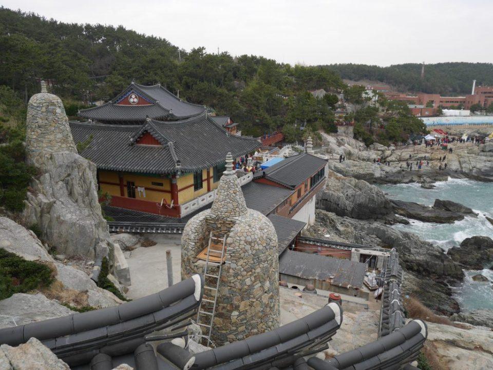 Temple Yonggeunsa au bord de la mer