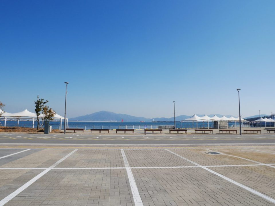 Vue du port de Yeosu