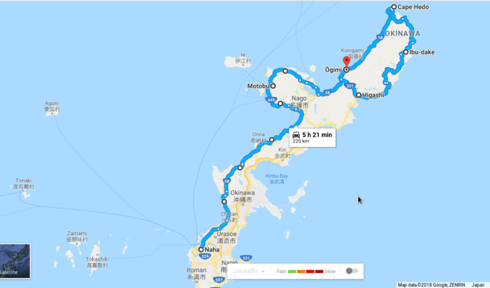 Voici un petit aperçu du trajet que nous avons fait sur Google maps. Ce n'est sans compter les détours et allers-retours nombreux.