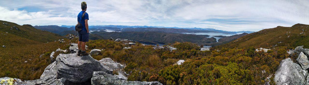Panorama of Dante at the Cradle Mountain