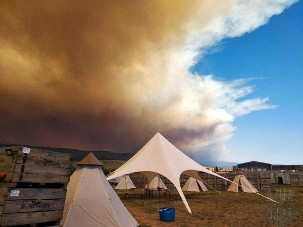 The result of the bush fires above our tents