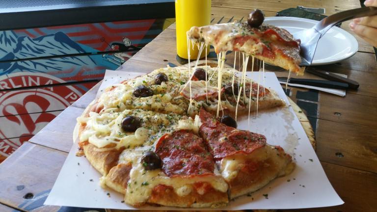 Pizza à Villa Catédral