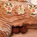 No-Bake Chocolate Yule Log with Chocolate Mushrooms