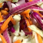 Coleslaw with Hot Caraway Vinaigrette