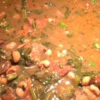 Black-Eyed Pea, Pork, and Mustard Green Gumbo