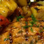 BBQ Salmon and Fruit Skewers