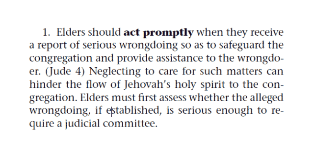 Elders should act promptly