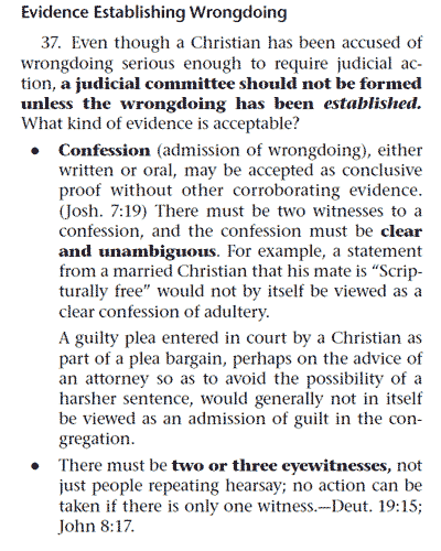 Confession or two witnesses