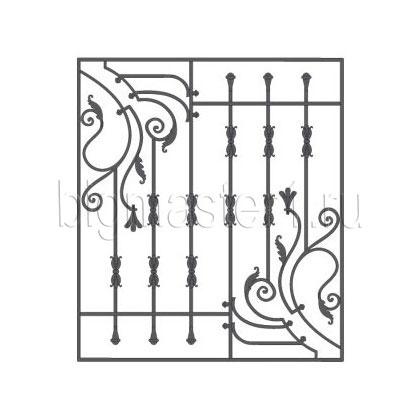 Эскизы кованых решеток, цена на кованые решетки, расчет