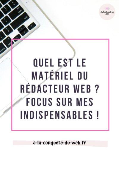 matériel rédactrice web