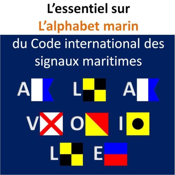 alphabet marin code international signaux maritimes pavillon a la voile