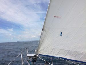 virer de bord penon intrado a la voile d'avant