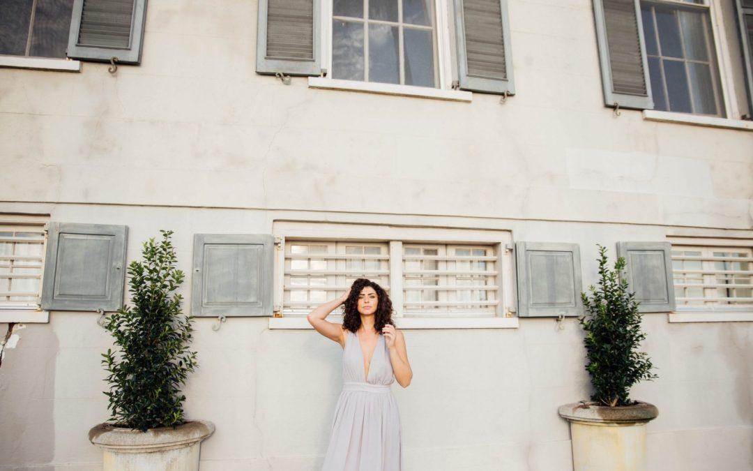 Alexandra | La Femme Gray Dress