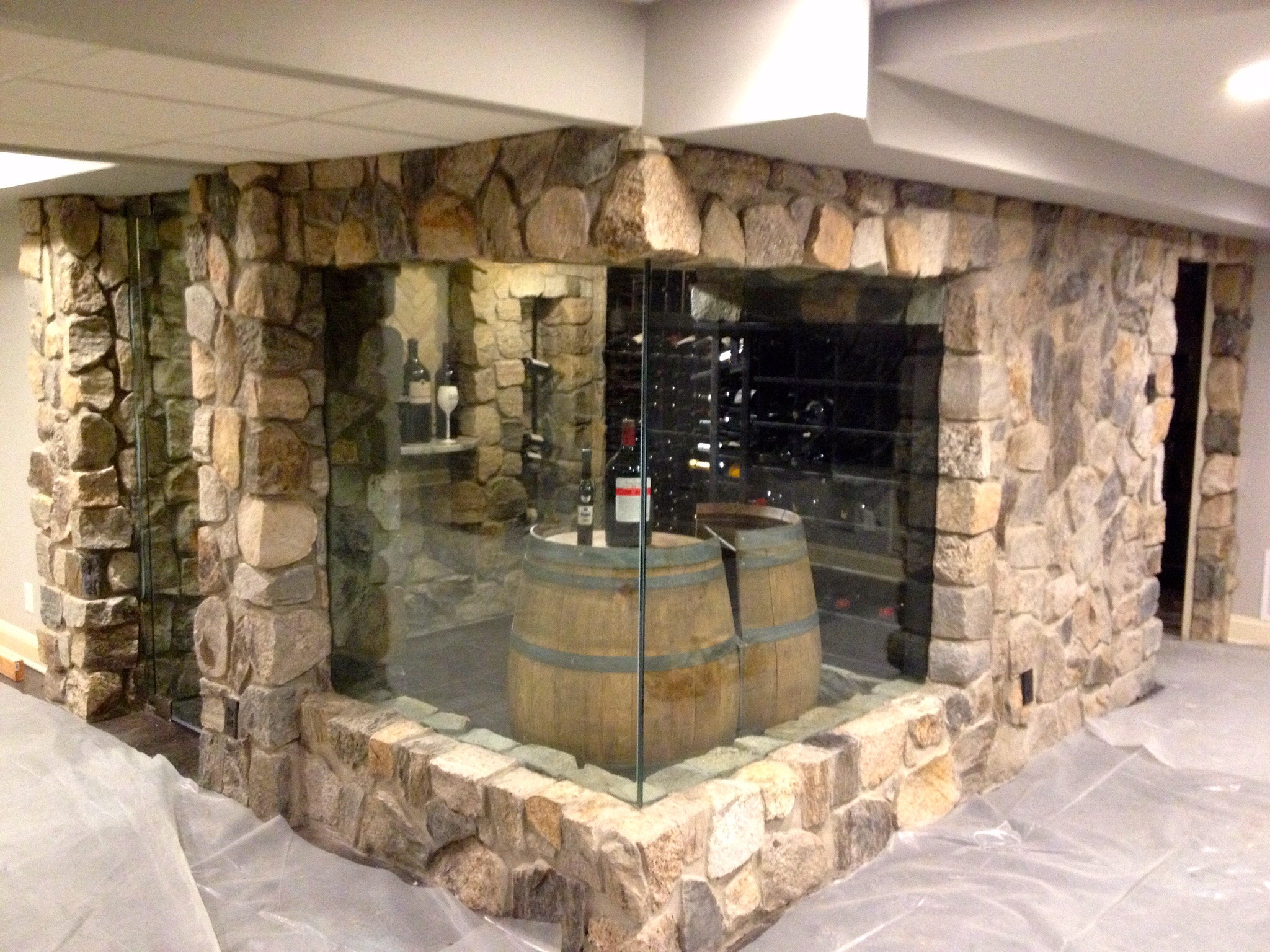 Finished Basement  Wine Room in Swedesboro located in