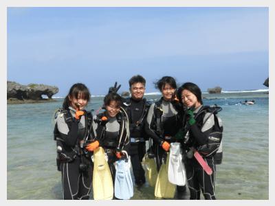 体験ダイビング|足の立つ水深で練習