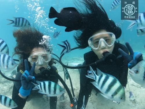 沖縄貸切ボートで体験ダイビング