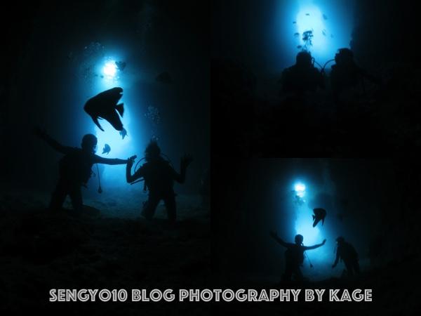沖縄ダイビング|早朝青の洞窟2