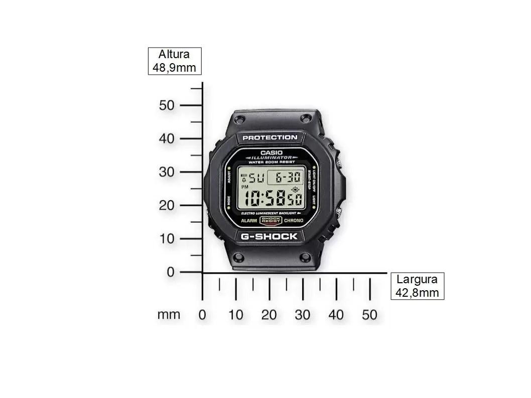 Relógio Casio G Shock Digital Masculino DW-5600E-1VDF