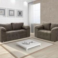 Sofas Modernos Para Salas Pequenas Sofa Cleaning Alexandria Va Sofá 2 E 3 Lugares Suede Pop - Selmer Sofás Magazine Luiza
