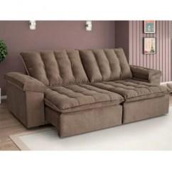 Sofa 250cm Havertys Reclining Sofas Retratil E Reclinavel 4 Lugares Itaguai Estofart Marrom