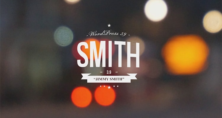 WordPress 3.9 Smith is available