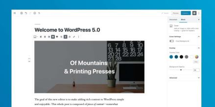 WordPress 5.0 Gutenberg Blocks editor - a-support.dk
