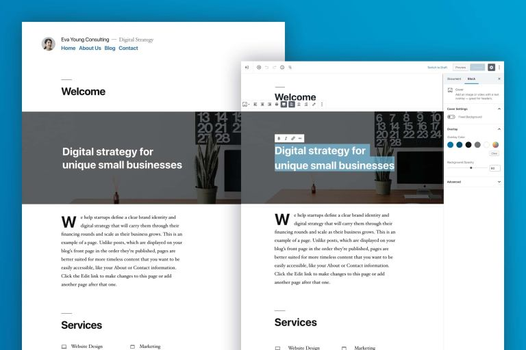 WordPress 5.0 Twenty Nineteen theme - a-support.dk