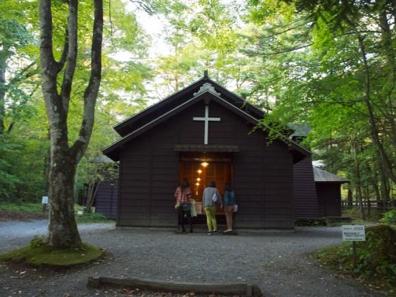 軽井沢には教会があちこちにある
