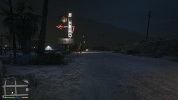寂れた砂漠の町