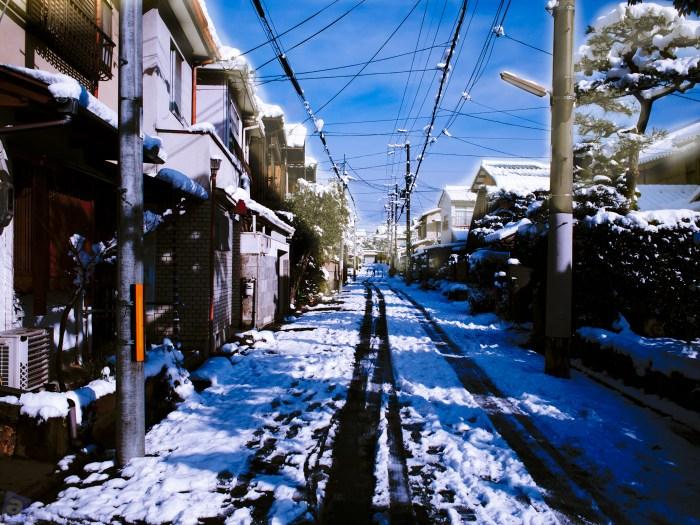 まったく関係ない今日2015年大雪の写真