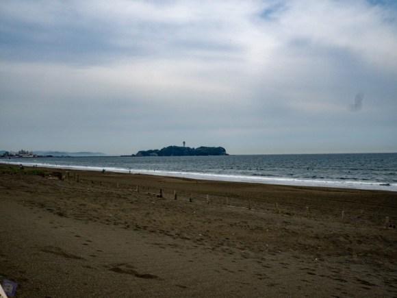 こちらから江ノ島見るのは初めて