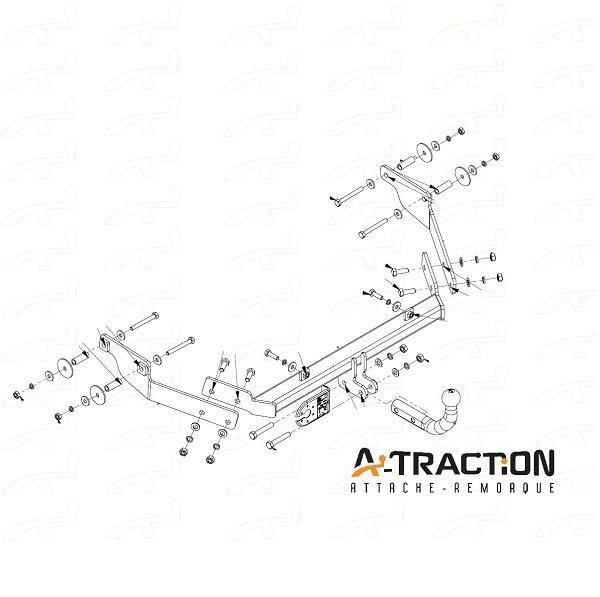 Attache-remorque Citroen Xsara Berline 1997-2004 Kit d
