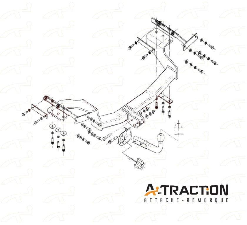 Attache-remorque Nissan X-trail T31 2007-2014 Kit d