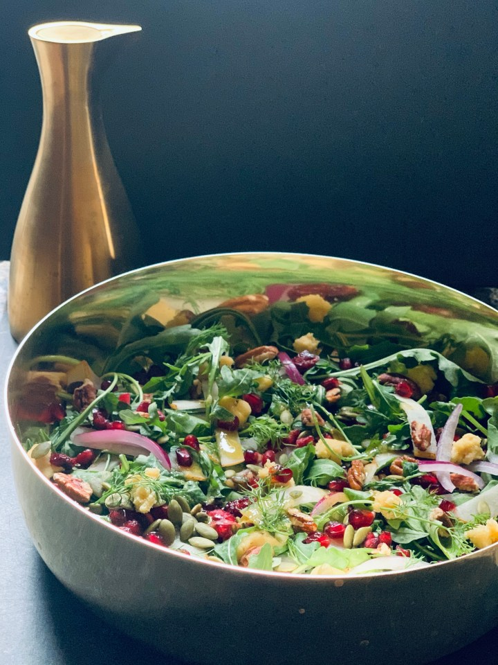 Shaved Fennel Salad with Asian Pear and Pomegranate