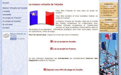 Création de site web • Maison Virtuelle de l'Acadie
