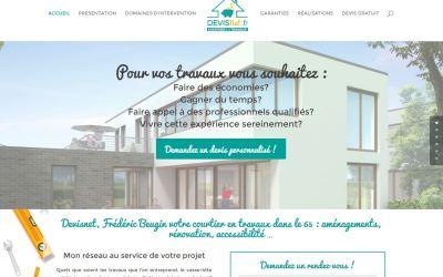 Pack communication pour devisnet.fr – Site web, Charte graphique et Page Facebook