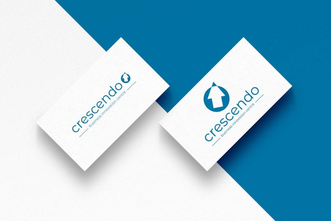 Conception de la nouvelle identité visuelle et du logo du Business Innovation Centre Crescendo à Tarbes