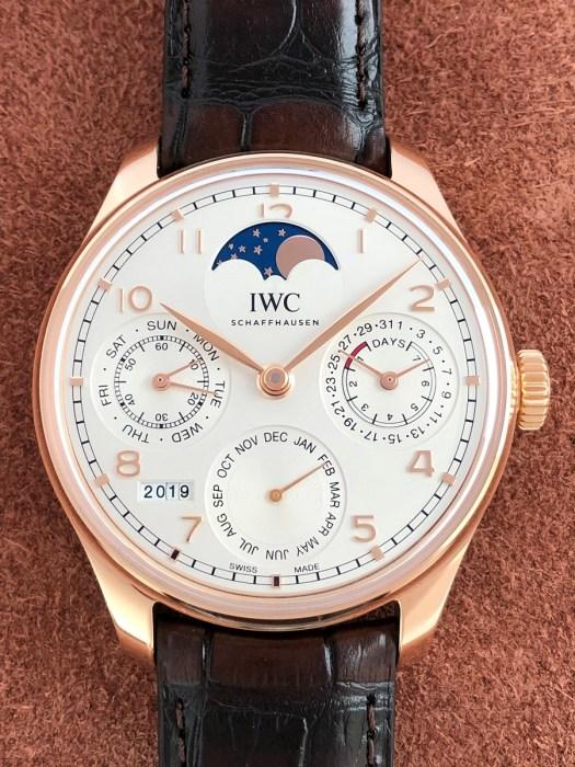 IWCポルトギーゼ パーペチュアルカレンダーIW503302の正面