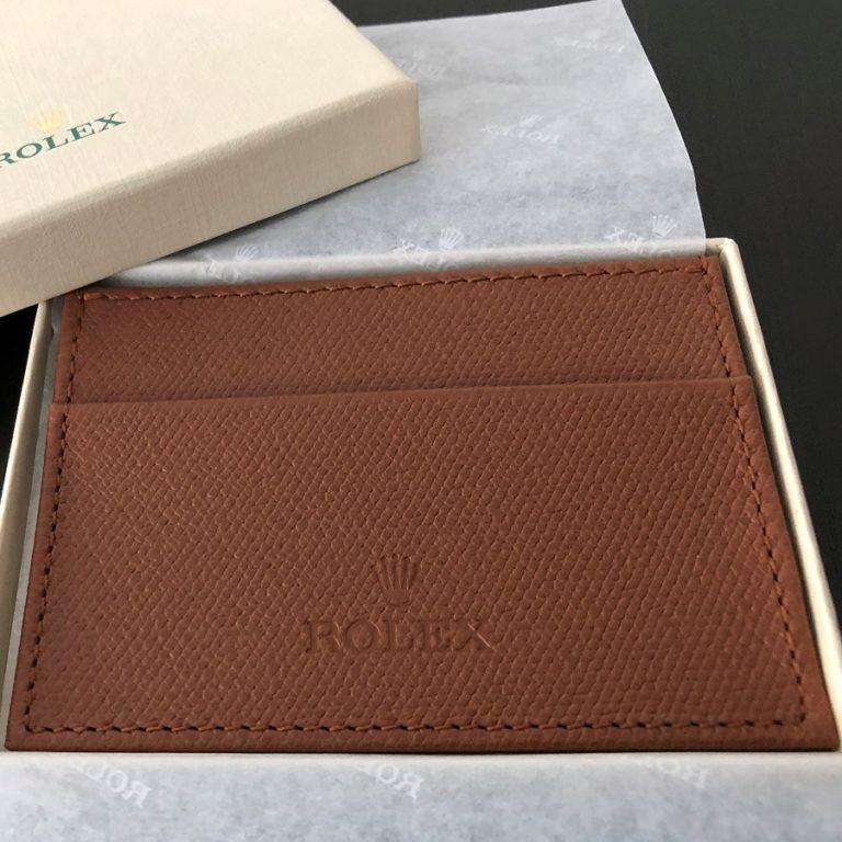 ロレックス(ROLEX)ノベルティ(非売品)カードケース ブラウン 未使用