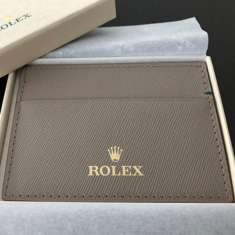 ロレックス(ROLEX)ノベルティ(非売品)カードケースGRAY未使用