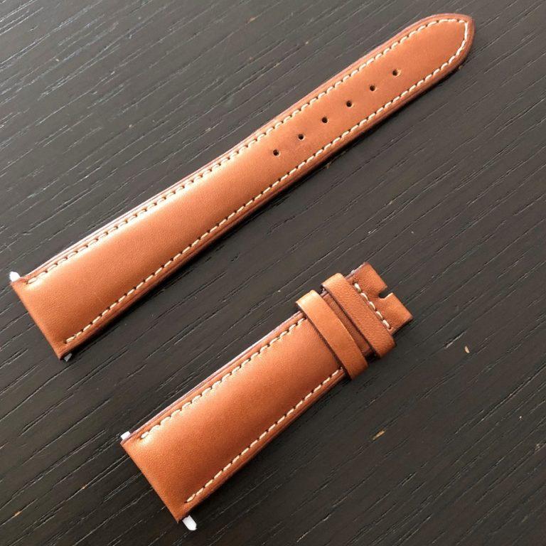 パテックフィリップ(PATEK PHILIPPE)レザー(革)ベルト 21×16mm ライトブラウン×アイボリーステッチ 未使用8
