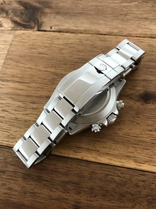 ロレックス デイトナ 116500LN ホワイト(白) バックル側から NEWギャラ 未使用