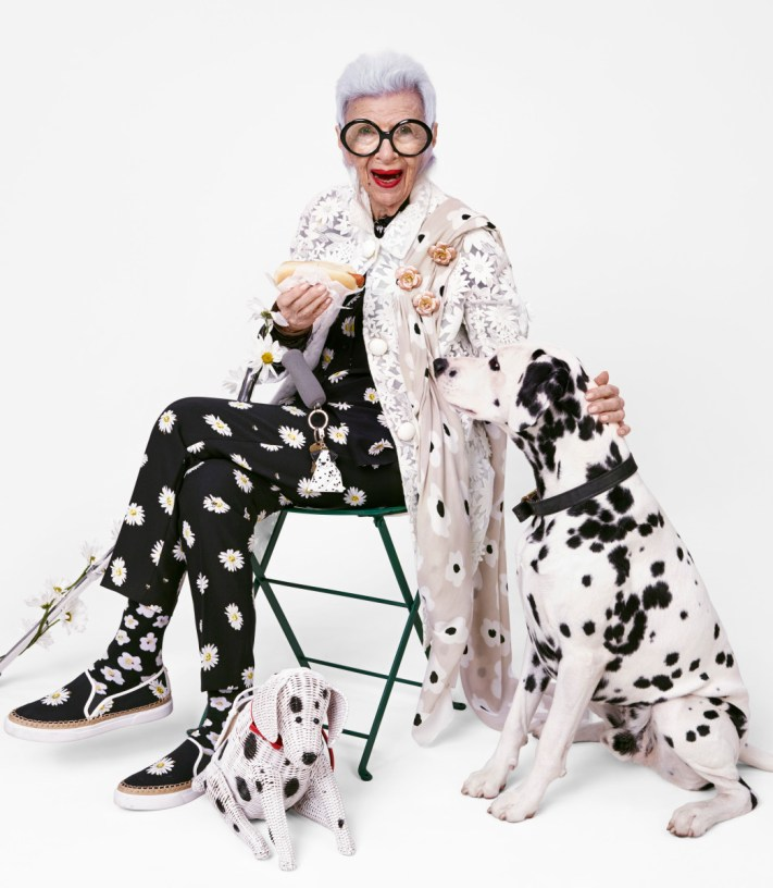 Model: Iris Apfel Photographer: Emma Summerton; HarpersBAZAAR UK