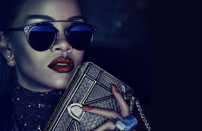 """Rhianna   Dior So Real Sunglasses  ' Secret Garden"""" ad campaign"""