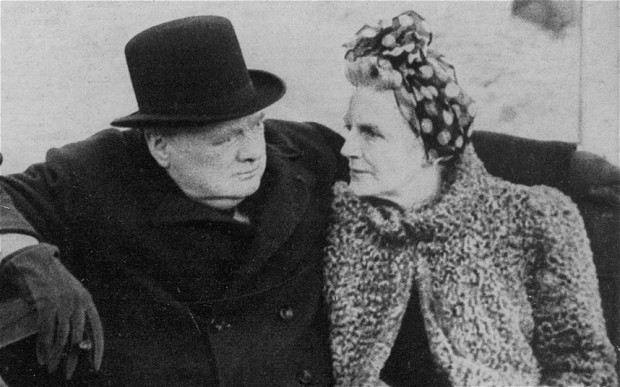 Winston Churchill and his wife of 56 years, Clementine.