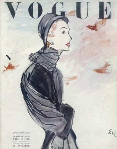 Vogue Paris 1948 Illustration by Carl Erickson
