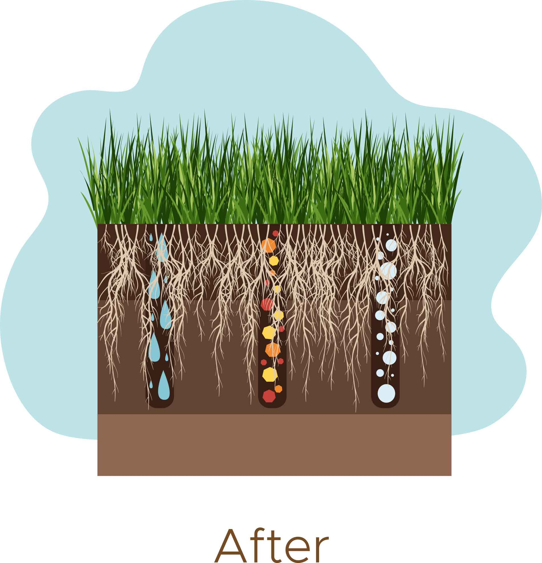 After Aerating Lawns in Ridgefield CT - A-Z Landscaping LLC